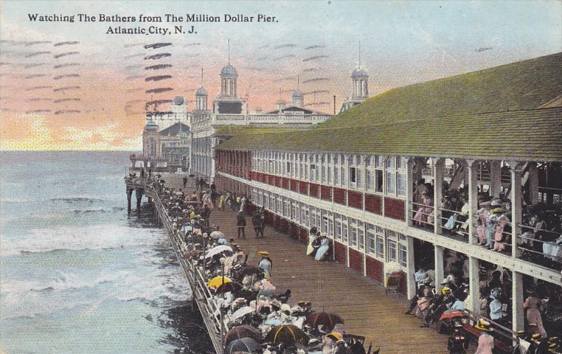 Watching The Bathers from The Million Dollar Pier,   Atlantic City,  New Jers...