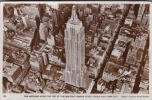 New York City Aerial View Empire State Building 1931 Real Photo