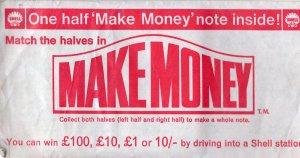 Shell Garage Petrol Make Money Note Vintage 1960s Advertising Ephemera