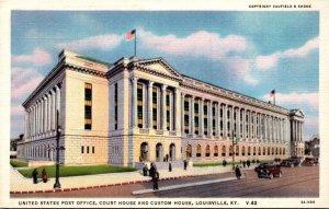 Kentucky Louisville Post Office Court House and Custom House Curteich