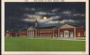 Tennessee colour Night View High School Bristol unused