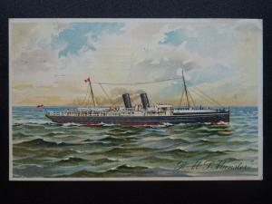 Shipping Official R.M.S. MUNSTER City of Dublin Steam Packet Co. c1911 Postcard