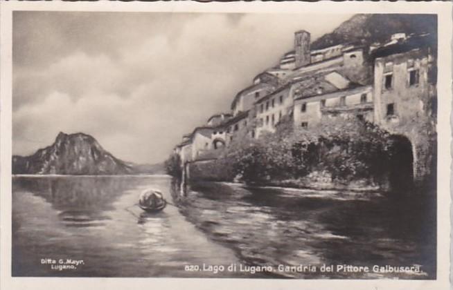 Switzerland Lago di Lugano Gandria del Pittore Galbusera