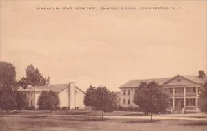 New York Gymnasium Boys Dormitory Oakwood School Poughkeepsie Albertype