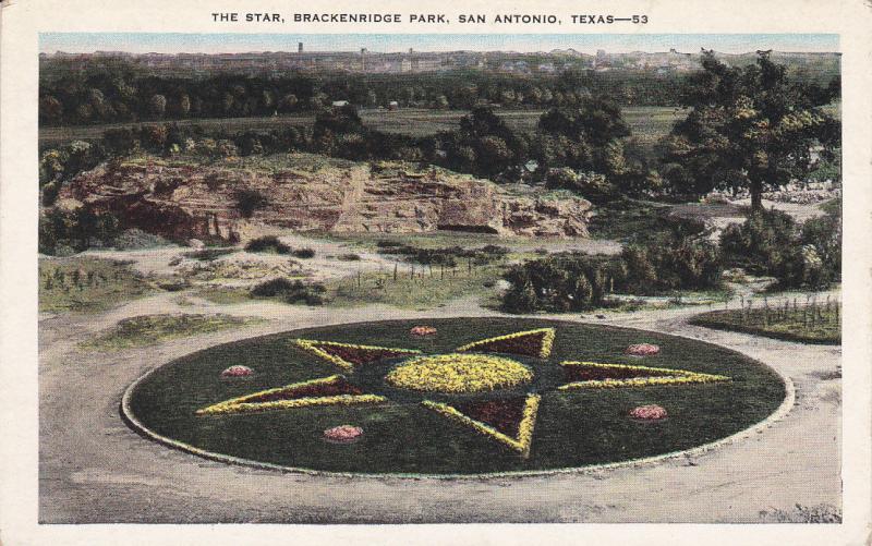 SAN ANTONIO, Texas, 1910-1920s; The Star, Brackenridge Park