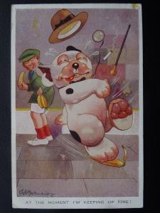 Bonzo Dog AT THE MOMENT IM KEEPING UP FINE ! c1932 G.E.Studdy Postcard Valentine
