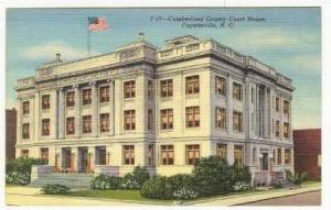 Cumberland County Court House, Fayetteville, North Carolina, 1930-1940s