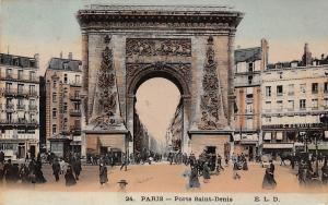 France Paris Porte Saint Denis E. Burgue Commerce Shops