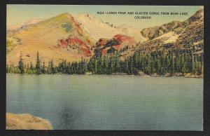Longs Peak & Glacier Gorge Bear Lake Colorado Unused c1930s
