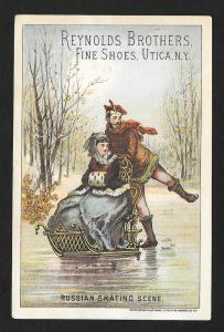 VICTORIAN TRADE CARD Reynolds Bros Shoes Russians Skating