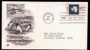 1971 US Sc #1431 FDC Antarctic Treaty Good Condition.