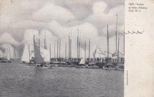 ATLANTIC CITY, New Jersey, 1901-1907; Yachts At Inlet