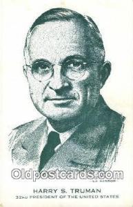 Harry S. Truman Other Presidents Postcard Postcards  Harry S. Truman