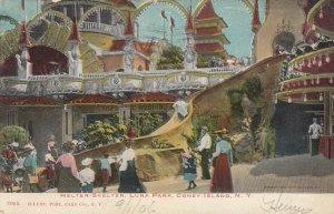 CONEY ISLAND, New York, 1906; Helter-Skelter Slide, Luna Park