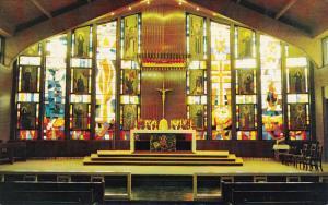 St. Augustine's Chapel, Inside View, MONASTERY, Nova Scotia, Canada, 40-60´