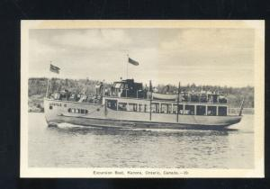 KENORA ONTARIO CANADA EXCURSION BOAT ARGYLE II VINTAGE ADVERTISING POSTCARD