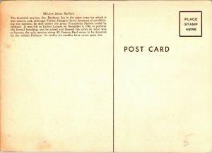 Mission Santa Barbara BM Lasky painting 1959 oversized postcard