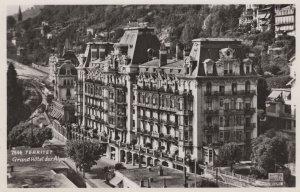 Hotel des Alpes Montreux Territet Swiss Real Photo Postcard