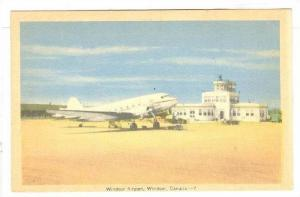 RP; Hand-colored, Windsor Airport, Windsor, Ontario, Canada, 10-20s
