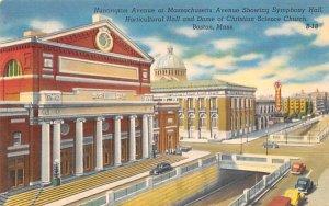 Huntington Avenue at Massachusetts Avenue Postcard