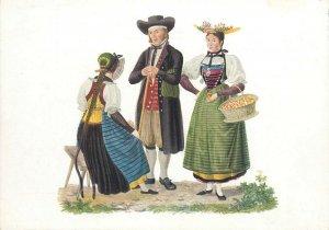 Switzerland swiss early folk costumes ethnic types Luzern
