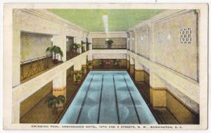 Swimming Pool, Ambassador Hotel, Washington DC