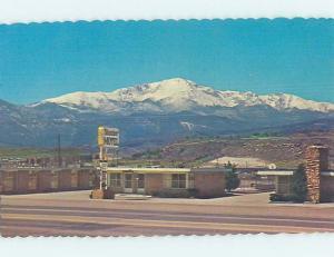 Unused Pre-1980 MOTEL SCENE Colorado Springs CO HJ8649