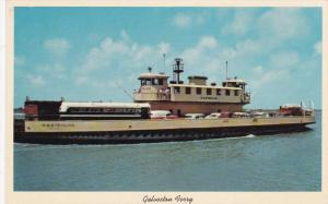 GALVESTON, Texas, 1950-1960's; Ferry Boat Connecting Galveston With Highway 87