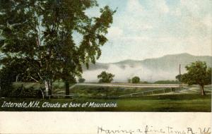 NH - Intervale. Clouds at the base of the Mountains