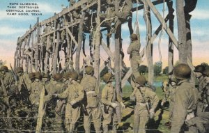 CAMP HOOD , Texas , 1940s; Rope Climbing, Tank Destroyer Obstacle Course