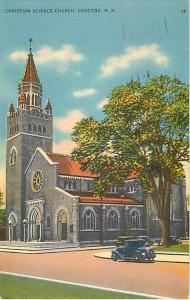 Christian Science Church Concord New Hampshire NH 1938 PC