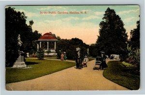 Halifax NS, In The Public Gardens, Vintage Nova Scotia Canada Postcard
