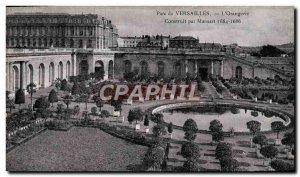 Old Postcard Park De Versailles L & # 39Orangerie Built by Mansart