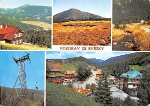 Czech R. Poland Pozdrav Ze Snezky mountain range, Snezka