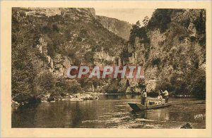 Old Postcard Gorges du Tarn Cirque des Baumes