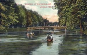 Boating at Epworth Lake Lincoln NE 1903