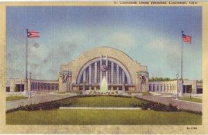 Cincinnati OH -  Union (Train) Terminal 1930s