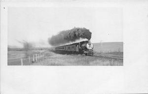 St Louis & Portland Special #42 Burlington Railroad 1910 RPPC Postcard
