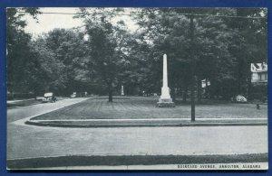 Alabama al Anniston Quintard Avenue old unposted postcard