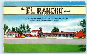 The El Rancho Motel 3310 S. Virginia Road Reno Nevada Vintage Postcard E35