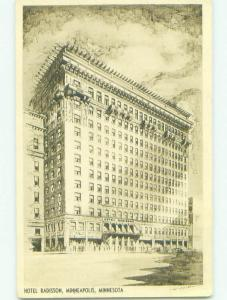 1940's RADISSON HOTEL Minneapolis Minnesota MN HQ5841
