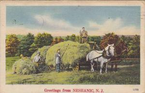 Harvesting, Greetings From Neshanic, New Jersey, PU-1944