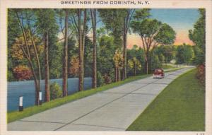 New York Greetings From Corinth 1952