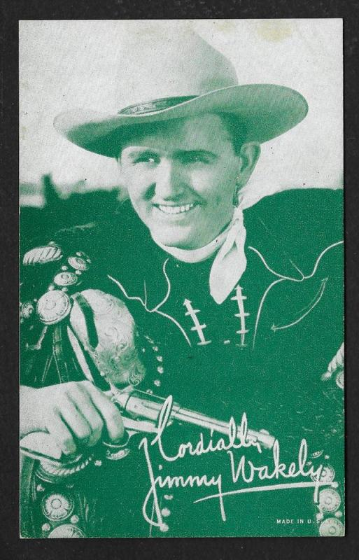 ARCADE CARD Cowboy Entertainer Jimmy Wakely