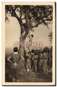 Old Postcard Scout Scout Jamboree rescue exercise