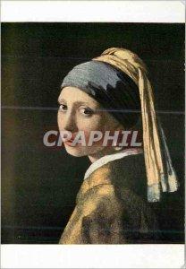 Modern Postcard Royal Dutch School Museum Jan van der Meer Young Girl in Turban
