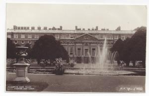 UK London Hampton Court Palace Fountain East Garden RPPC