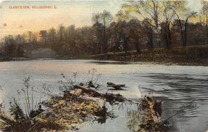 B99/ Willoughby Ohio Postcard c1910 Clark's Dam River