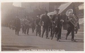 RP: Odd Fellows Parade, Brass Band, Winnipeg, Manitoba, Canada , PU-1911