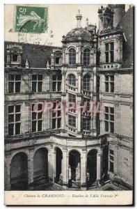 Old Postcard Chateau de Chambord staircase of & # 39Aile Francois 1er
